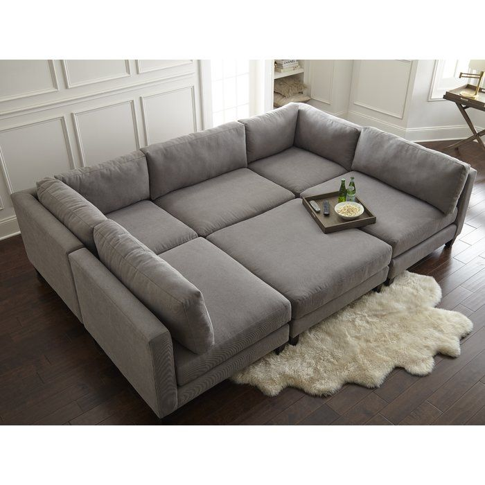 Chelsea 120 Symmetrical Modular Sectional With Ottoman