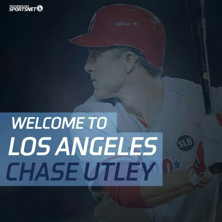 Welcome to the Dodgers Chase Utley...