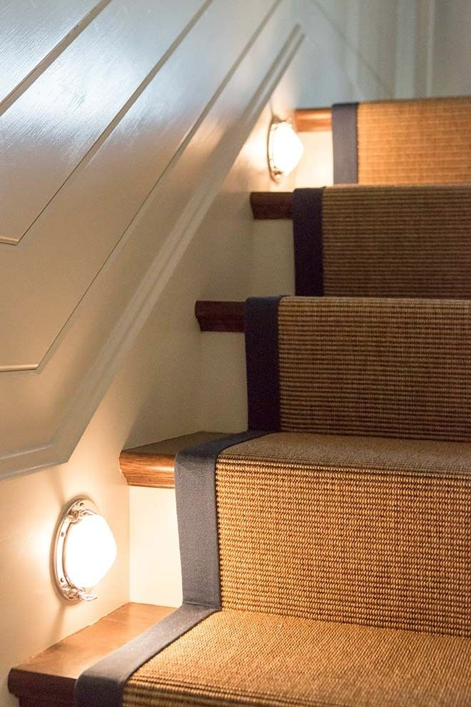 Nautical Lights Illuminate The Stairs Poly Sisal Rug