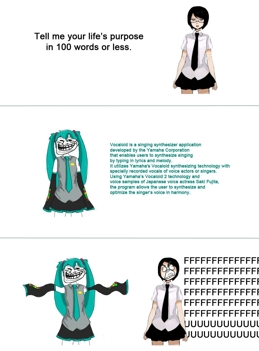 Vocaloid Memes Omg Why Would Someone Do This Why Did They Feel The Need Why Why Why Vocaloid Funny Vocaloid Miku