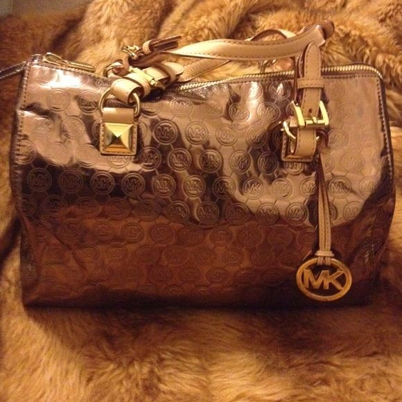 Michael Kors Large Grayson Mirror In Cocoa It Has Some Minor Wear