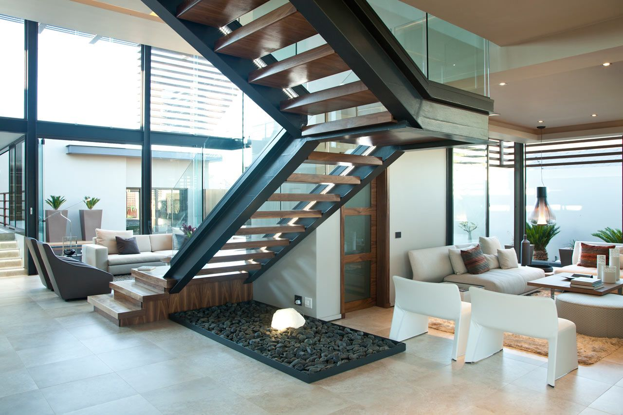 Minimalist Opulent Luxury Home With Lots Of Glass Steel And Wood