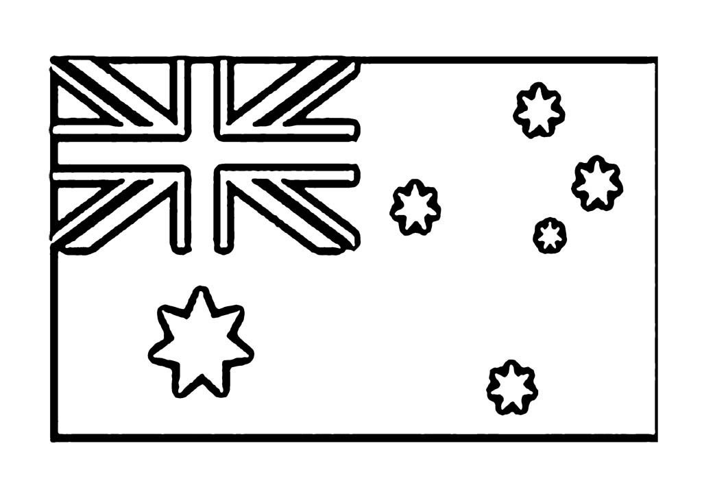 Australia Flag Coloring Page For Kids Flag Coloring Pages