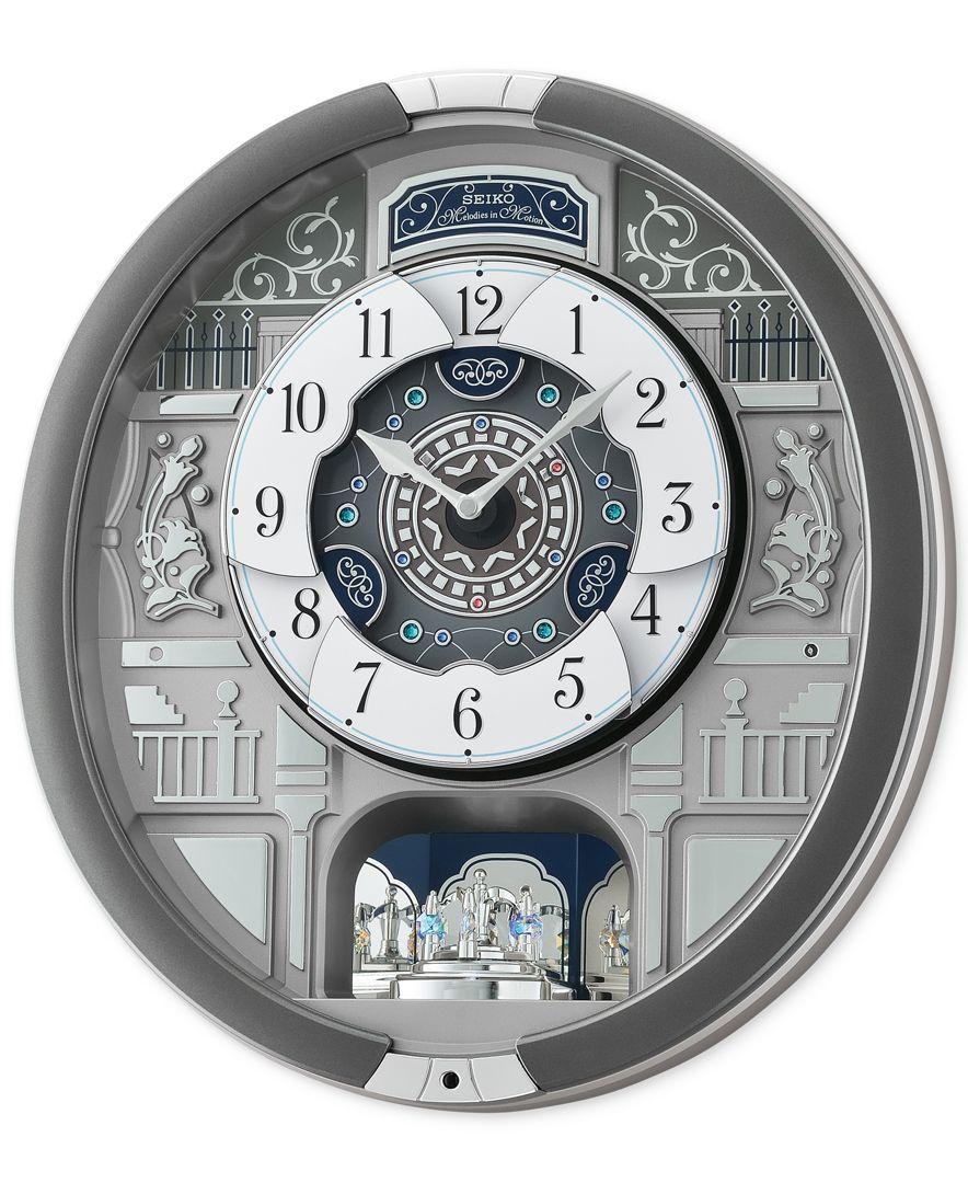 Seiko Melodies In Motion Silver Tone Wall Clock Seiko Wall Clocks