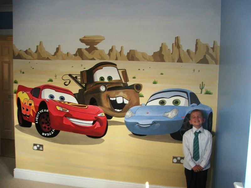 Disney Cars Wall Murals Part - 25: Disney Pixar Cars Only Iu0027d Have Lighting, Mater And The Hippy Van