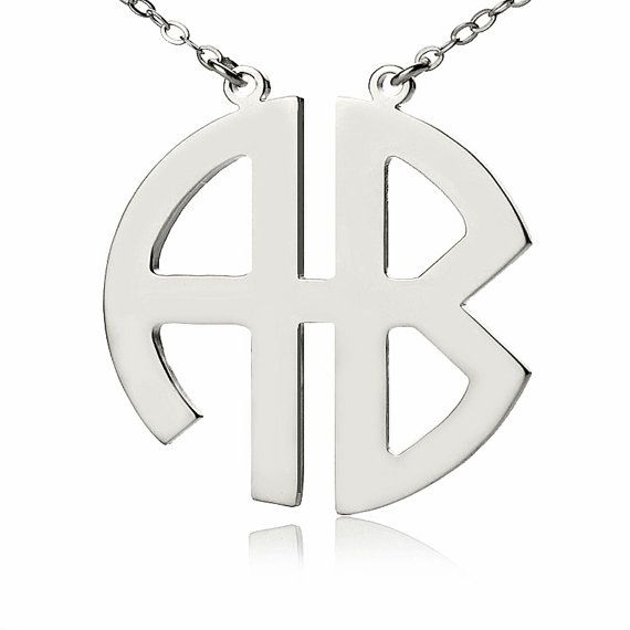 Silver plated 2 letters block monogram necklace two initials silver plated 2 letters block monogram necklace two initials nameplate monogrammed pendant personalized necklace aloadofball Choice Image