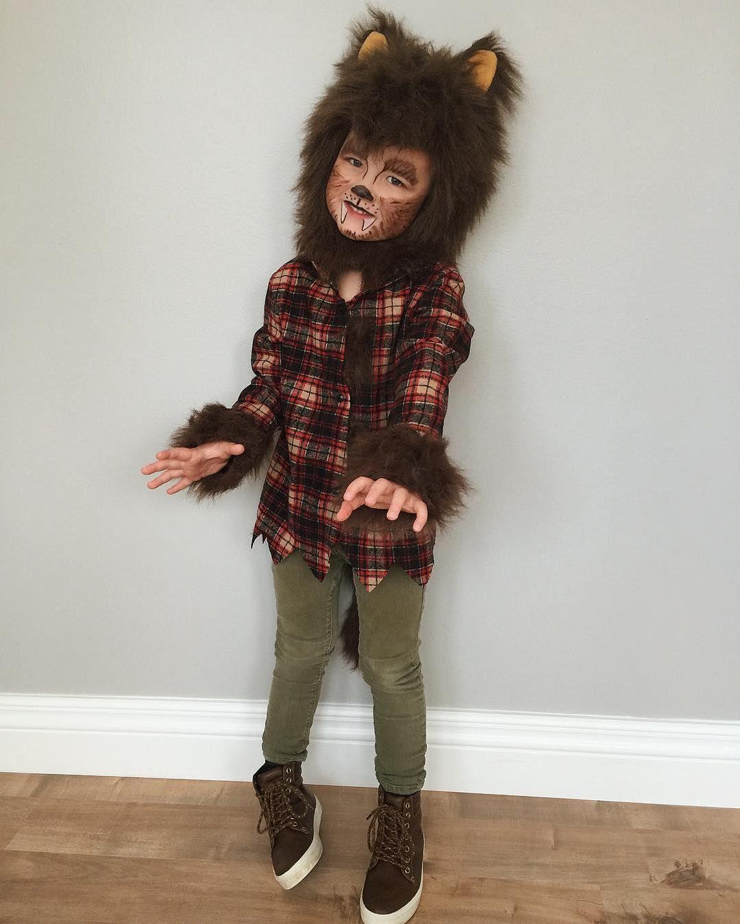 Boys werewolf costume!  sc 1 st  Pinterest & Boys werewolf costume! | Halloween makeup | Pinterest | Boys ...
