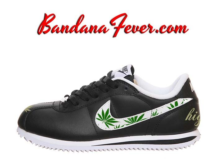 fetching how to design converse shoes at home. Bandana Fever  Custom Design Your Nike Shoes Converse Weed Pot Leaf Cortez Leather Black White weed by
