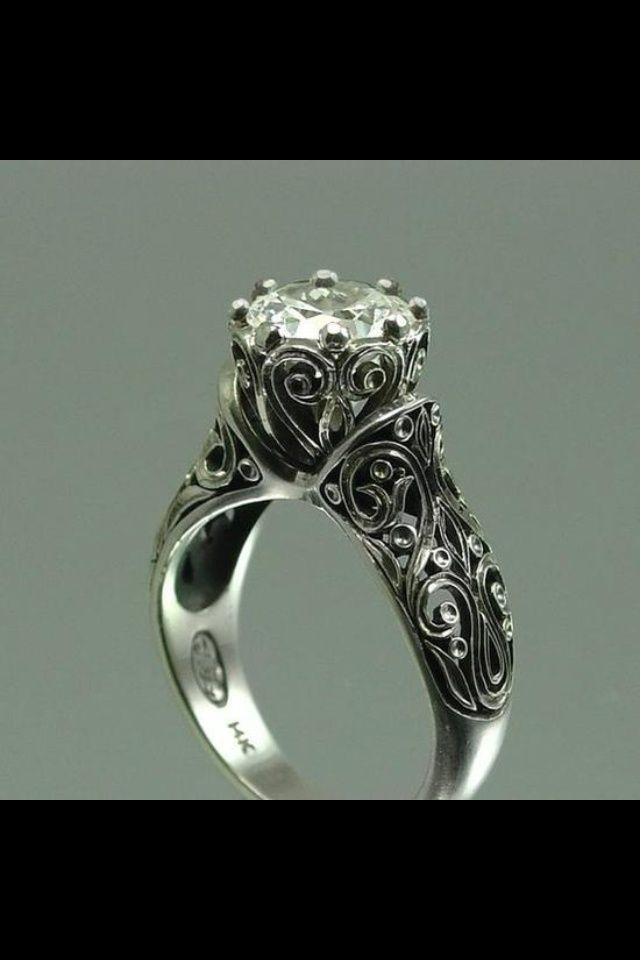 vintage enement rings maine antique irish ring - Irish Wedding Rings