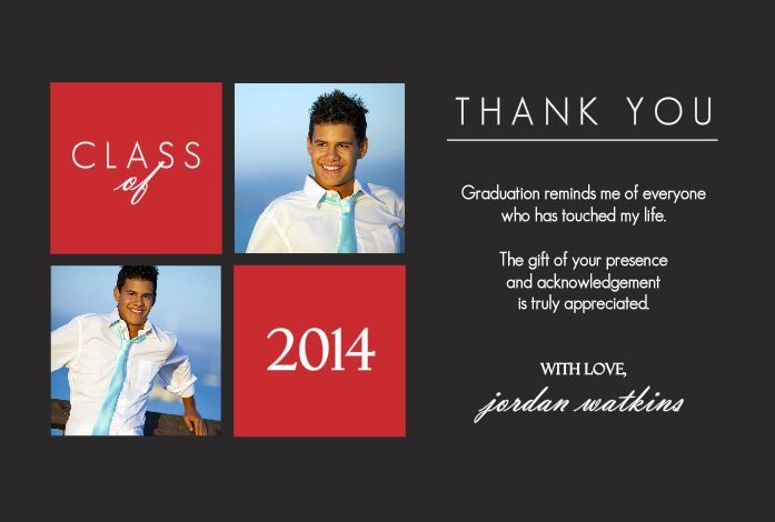 free thank you card for graduation templates - Graduation Thank You Cards