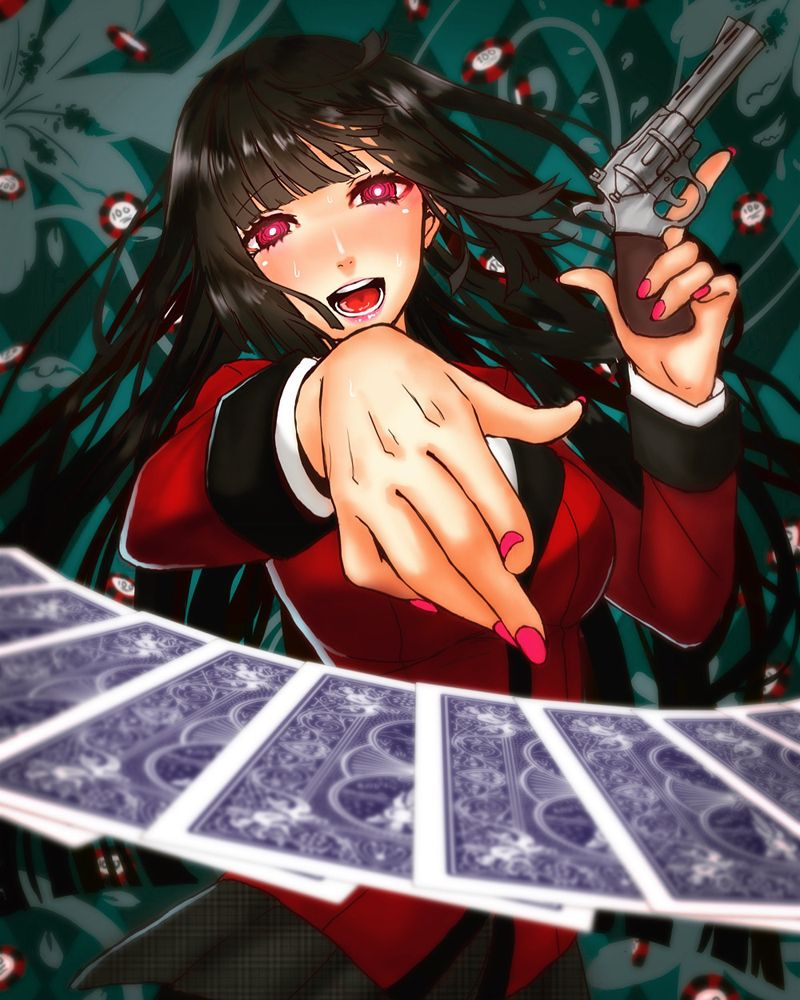 Pixiv id 10738893 mangaka kakegurui series jabami yumeko character fanart source fanart from - Personnage manga fille ...
