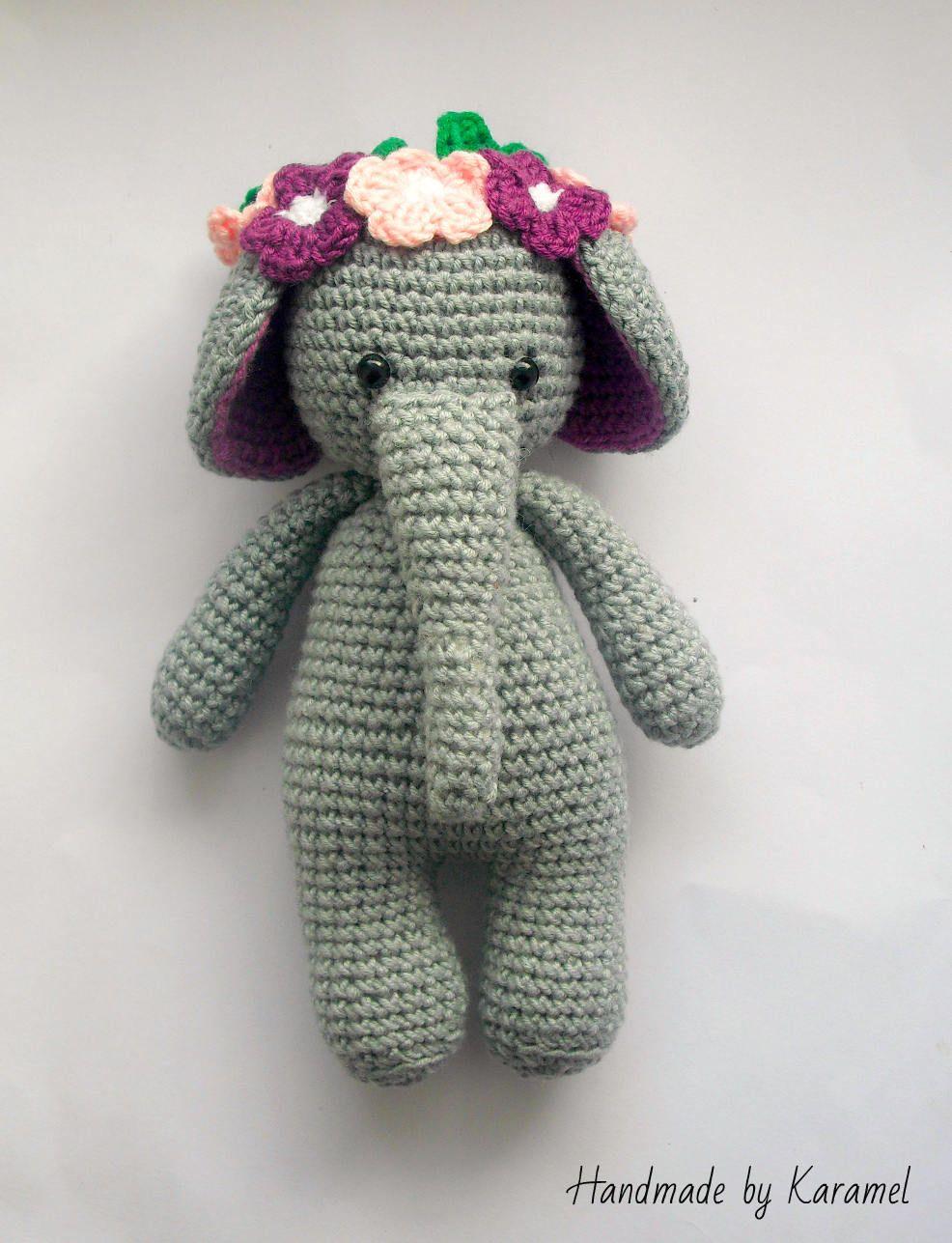 Items similar to Elephant Amigurumi / Crochet Elephant / Handmade ... | 1287x986