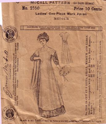 Unsung Sewing Patterns: McCall 2550 - Ladies One-Piece Work Apron