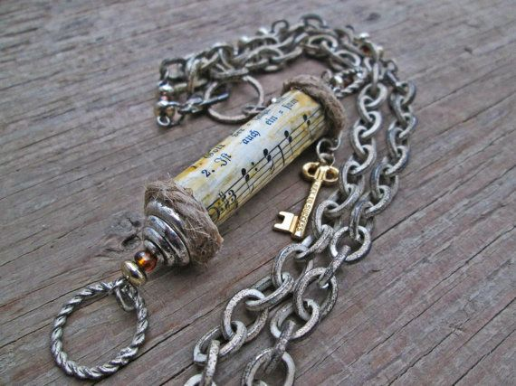 Upcycled recycled repurposed Paper bead necklace  by EarthChildArt, $37.00