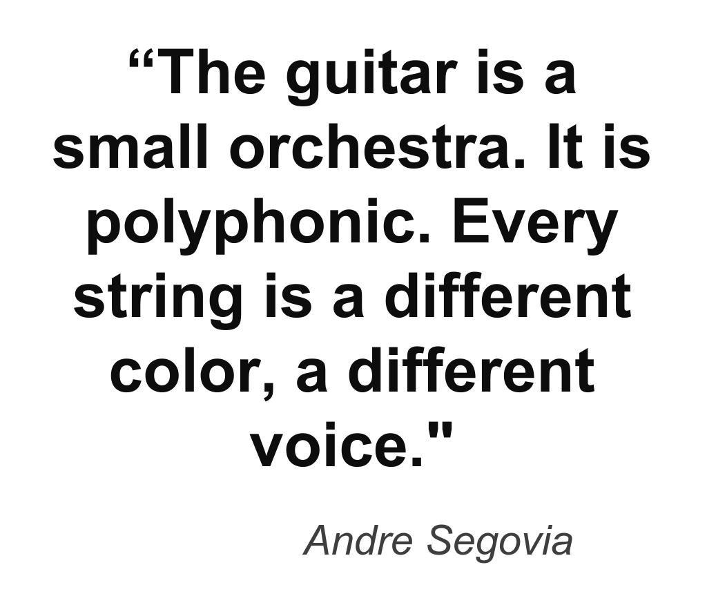 Music quote by guitarist Andre Segovia. guitar guitarist