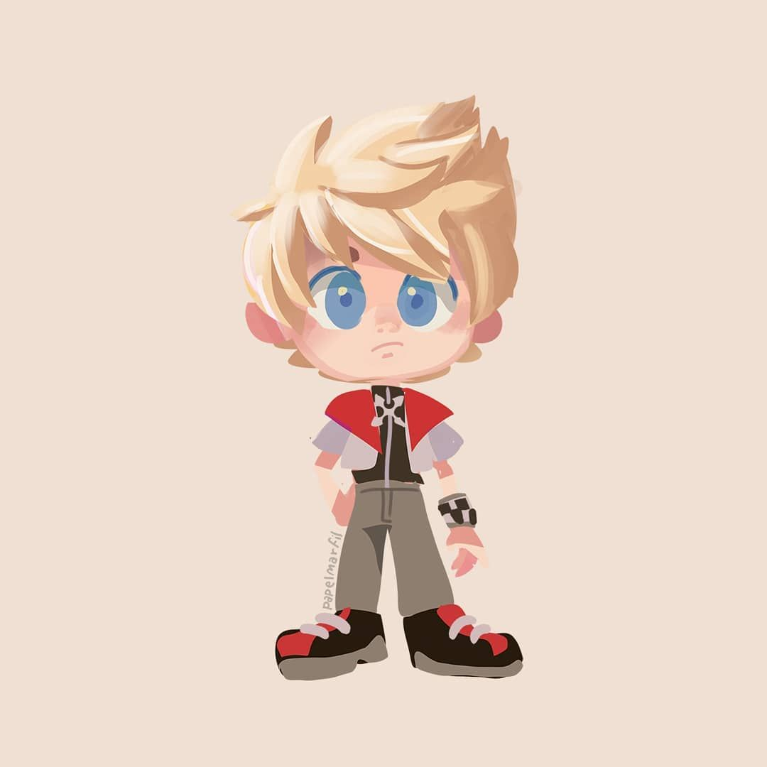 Roxas Doll Kingdomhearts Characterdesign Doodle With