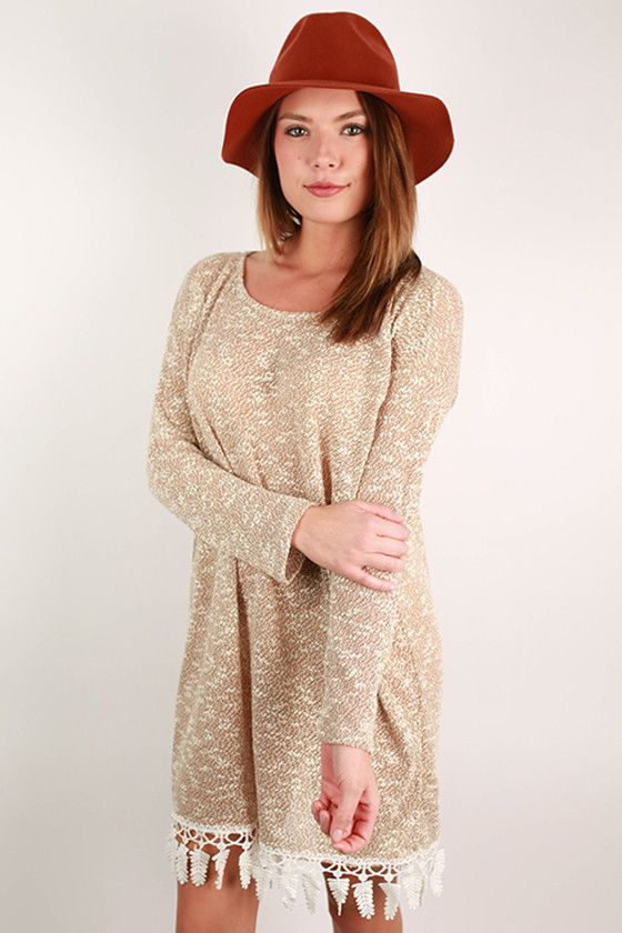 You'll have heads turning in this lovely sweater dress!