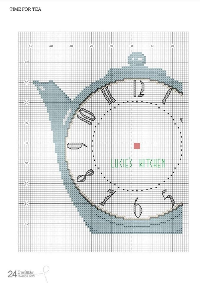 PATRONES PUNTO DE CRUZ GRATIS: Gráfico gratis de un precioso reloj ...