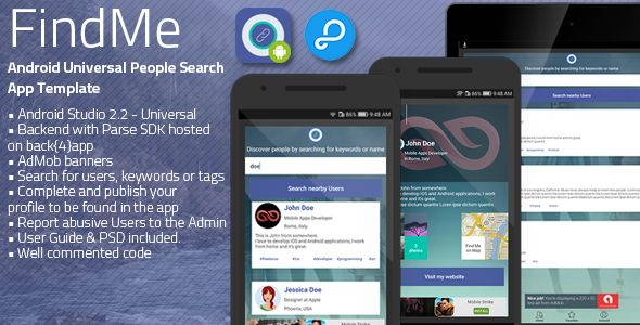 FindMe | Android Universal People Searching App Template