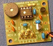 K1EL K14 Keyer produced in the UK by Kanga Products