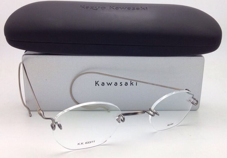 f18c65ebad46 New KAZUO KAWASAKI Eyeglasses KK 633 Antique Gold  Saddle Bridge   Cable  Temples