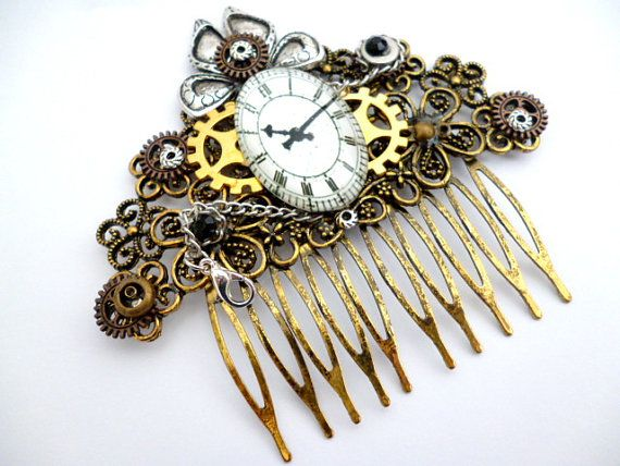 Steampunk Comb Hairhair Accessorieswatch Hair By Multistyle