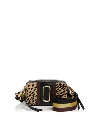 45c1182ed141 MARC JACOBS Snapshot Leopard Print Calf Hair Camera Bag.  marcjacobs  bags  shoulder  bags  fur  crossbody  metallic