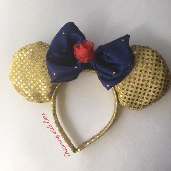 Beauty and the Beast Mickey Ears by DreamingwithEars on Etsy