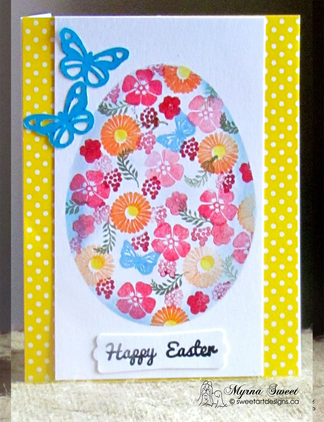 Easter card  For details about my card, see my blog at www.sweetartdesigns.ca
