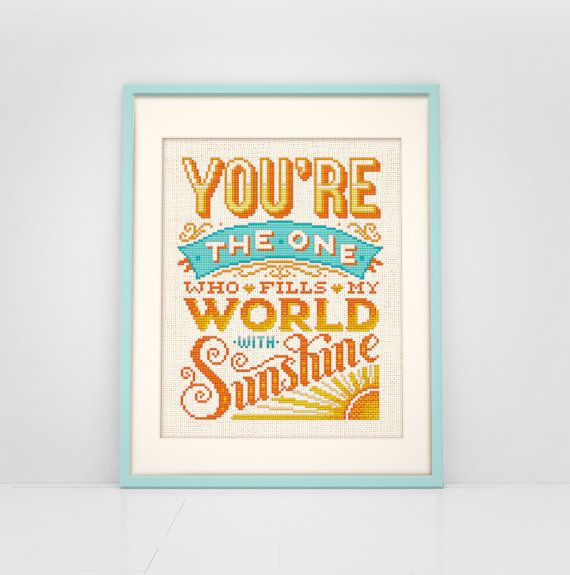 You+Fill+My+World+With+Sunshine++Cross+Stitch+by+Stitchrovia