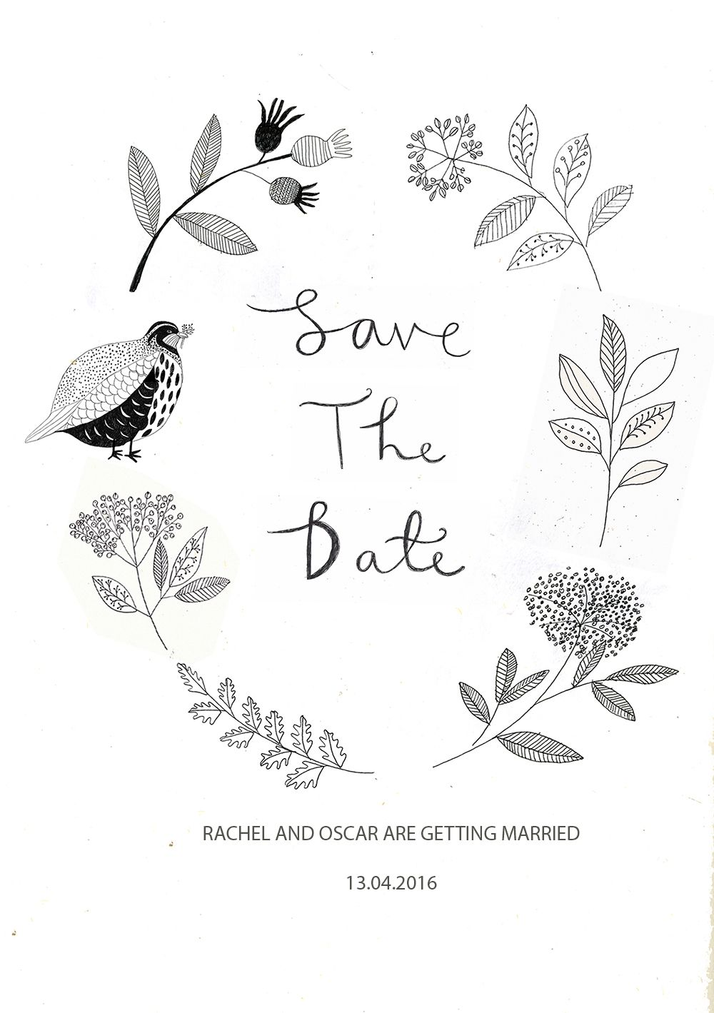 Save the date designed by Ryn Frank www.rynfrank.co.uk