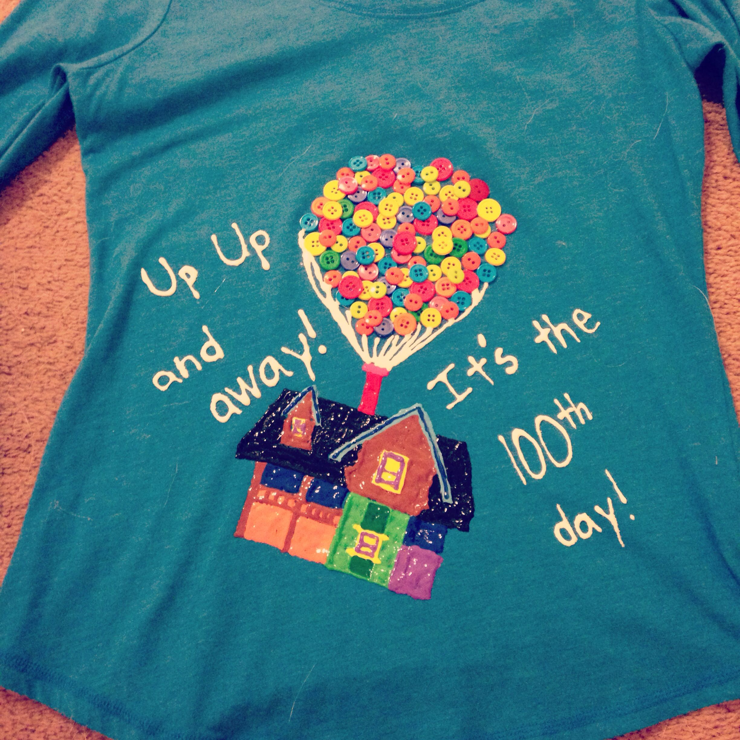 100th Day Of School T Shirt Disney Up With Images 100 Day Of