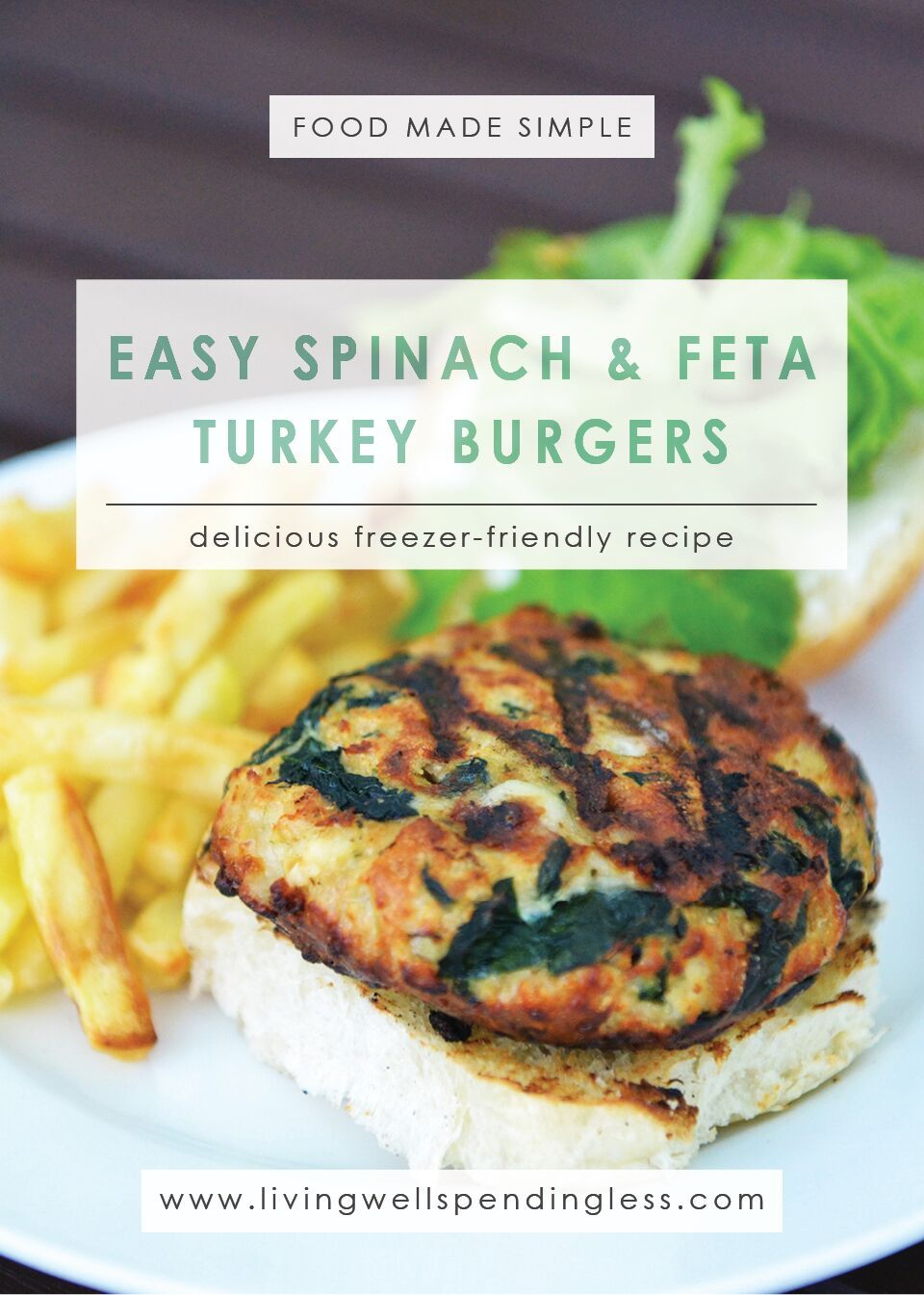 Easy Spinach & Feta Turkey Burgers| Quick Spinach and Feta Turkey Burgers Recipe | Spinach Feta Turkey Burgers | Turkey Burgers