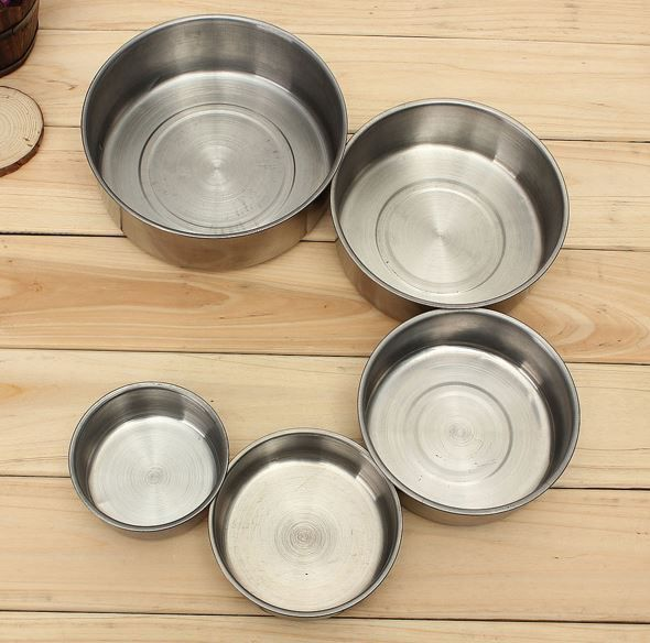 Set Stainless Steel Food Storage Container 5 Pcs Mixing Bowls Cookware Lunch Box Only $10.99