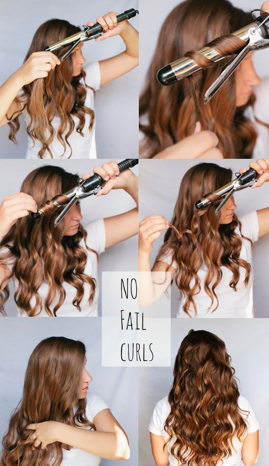 no fail curls- spray lightly with hairspray, twist around