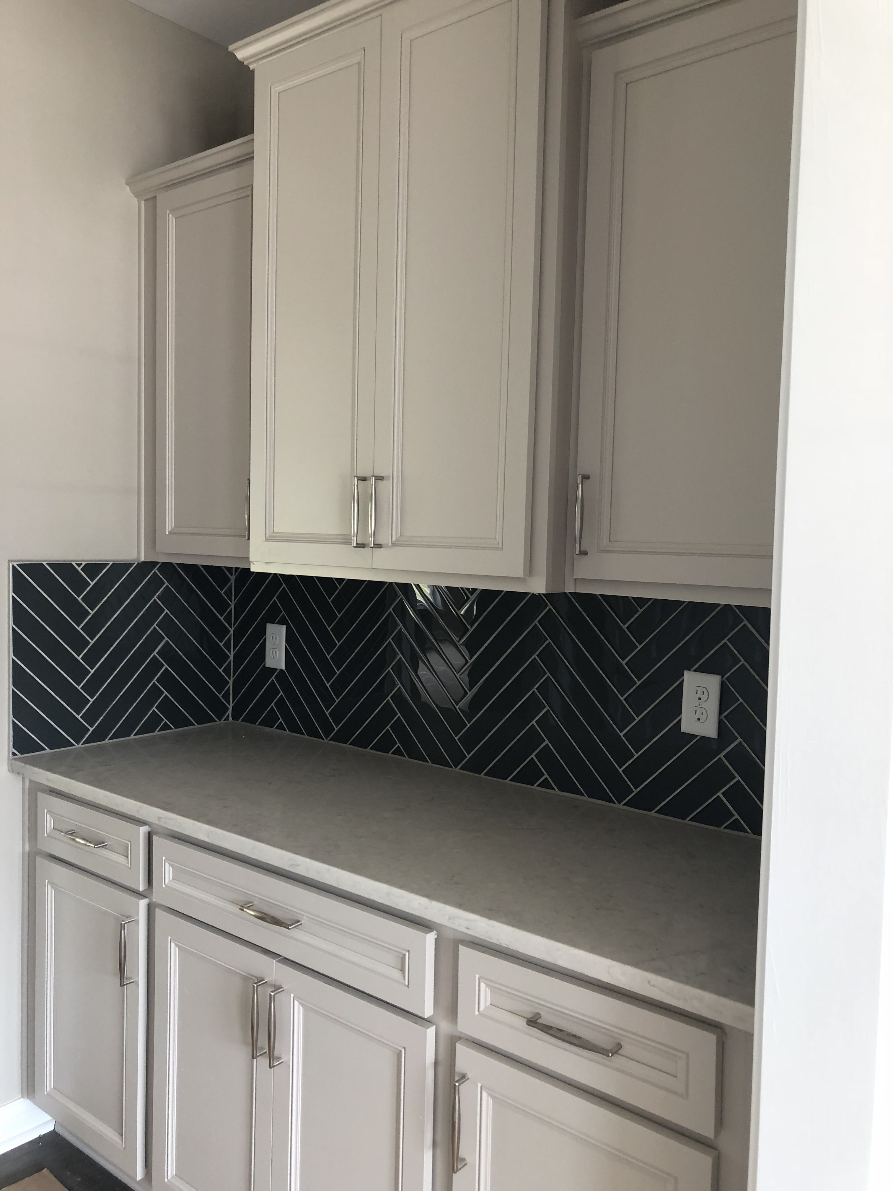 Best Lillian Glacier Gray Cabinets On A Butlers Pantry Grey 640 x 480