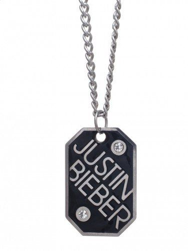 Justin Bieber Bling Dog Tag Necklace Justin Bieber Official Jewelry