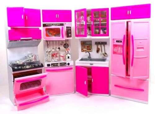 Barbie Mobili ~ Barbie doll kitchen play set toy kids toddler girl cook hostess
