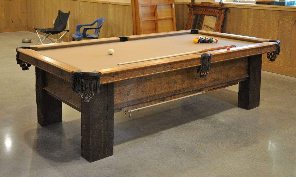 Build your own pool table plans - Reclaimed Lumber Table Patina Custom Pool Table From Reclaimed Lumber Reader S Gallery Fine
