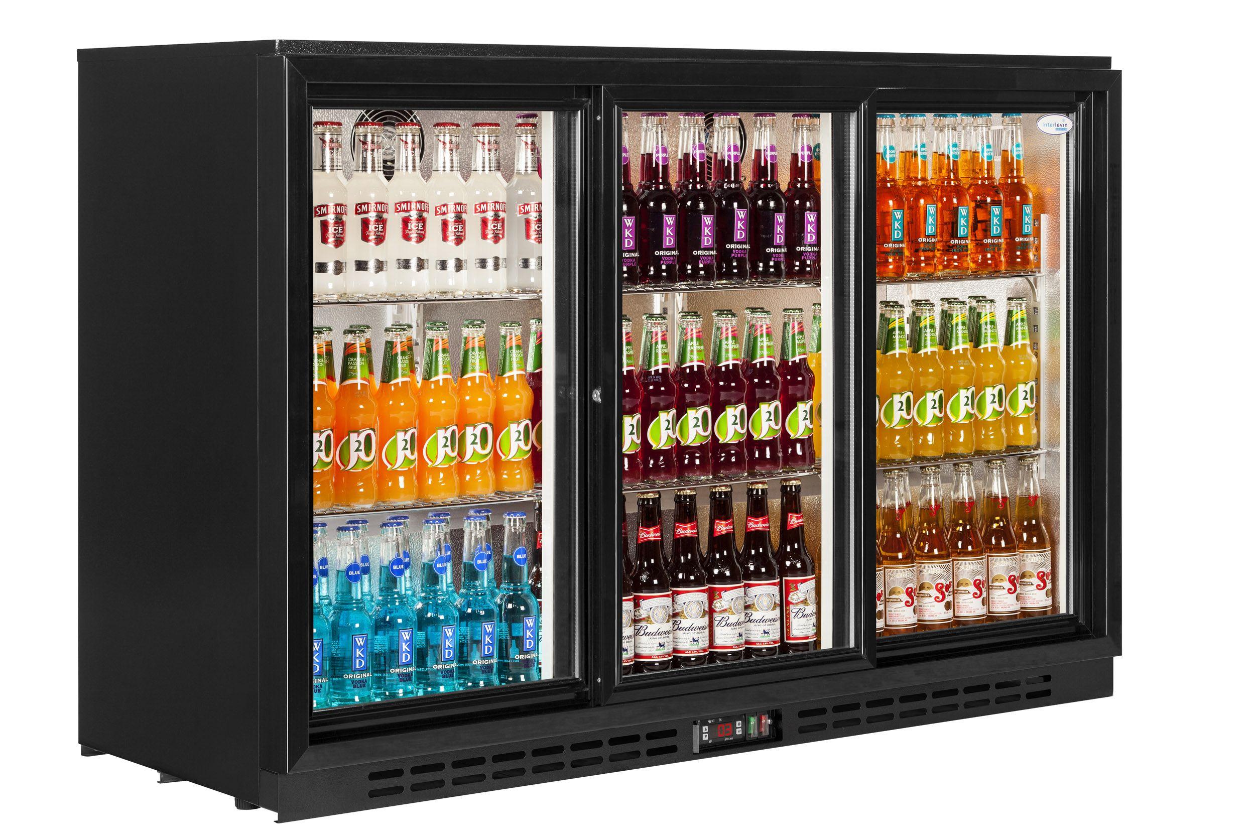 Interlevin Pd30s Triple Sliding Door Back Bar Cooler Bar Fridges Commercial Catering Equipment Back Bar