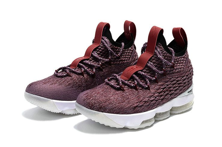 333500af75cb ... store 2018 new arrival nike lebron 15 mens basketball shoes sneakers  wine red black white 60eee