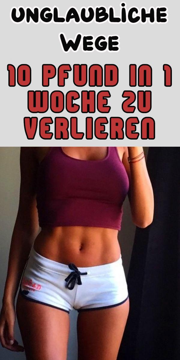 Die beste Methode, um in einer Woche Gewicht zu verlieren