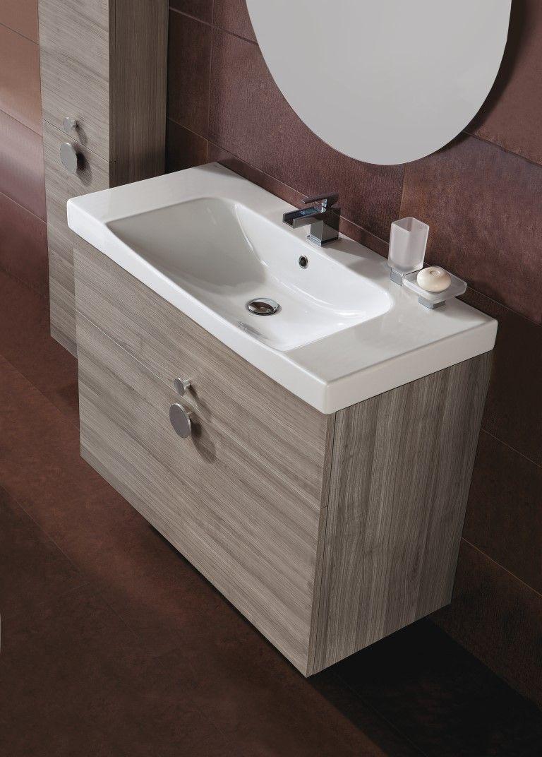 design e funzionalità lavabo Stilo 80 e mobile ad incasso | Lavabi ... - Mobiles
