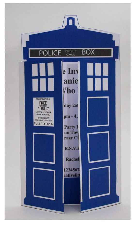 Dr Who Party Invitation INSTANT DOWNLOAD by CreativeLittleStars – Doctor Who Party Invitations