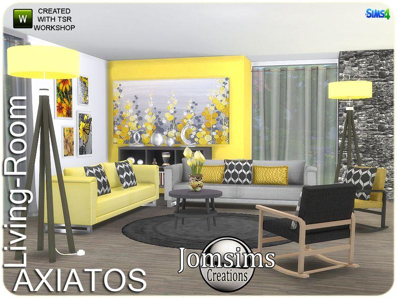 Axiatos Livingroom. Found In TSR Category U0027Sims 4 Living Room Setsu0027