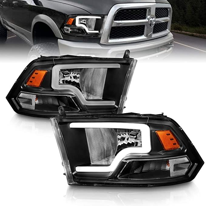 Amazon Com Amerilite Black Replacement Headlights Assembly Pair Led Bar For 2009 2019 Dodge Ram 1500 In 2021 Replacement Headlights Headlight Assembly Dodge Ram 1500