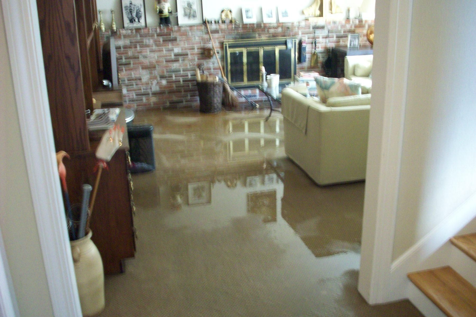 Basement Simple Flooding Cleanup With Through Floor And Pump From 4 Effective Ways To Prevent
