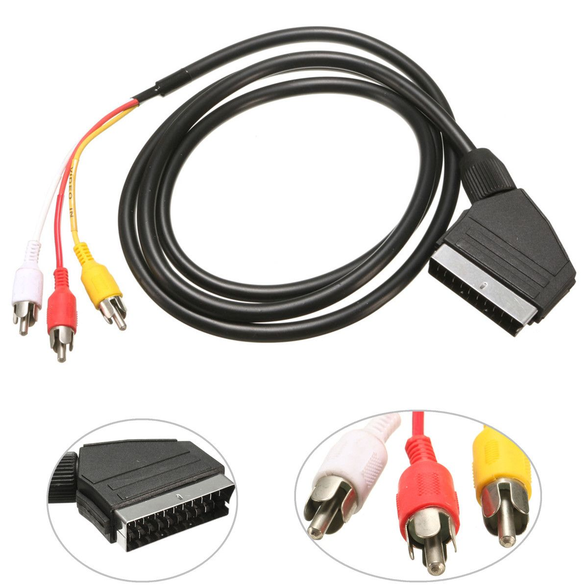Car styling 15m 21 pin scart to 3 rca plugs phono lead cable car styling 15m 21 pin scart to 3 rca plugs phono lead cable audio video sciox Gallery