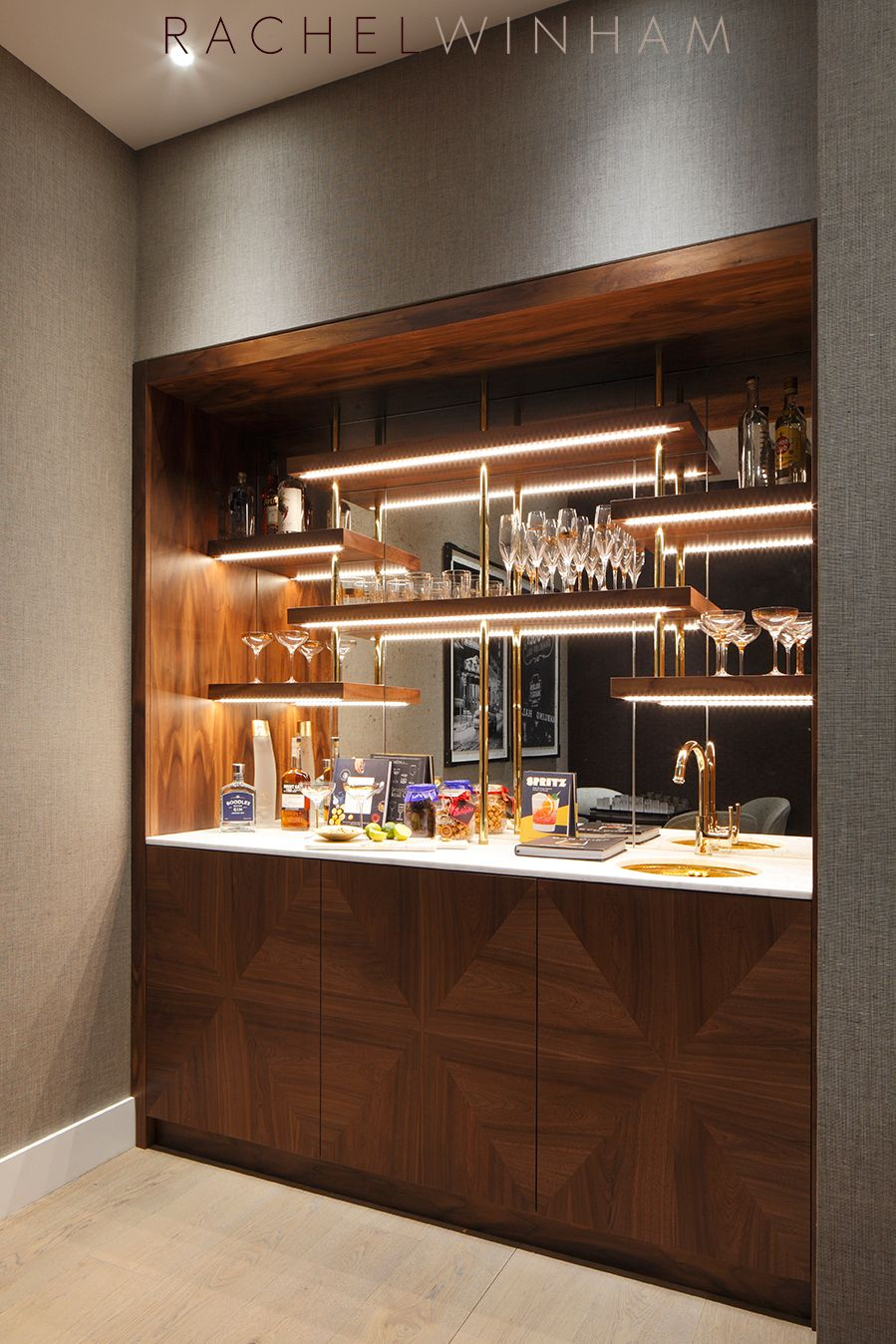 Bar Rachel Winham Interior Design Bars and Hutches en