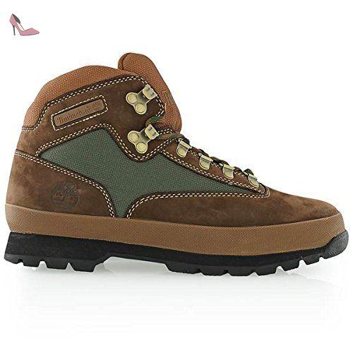 Timberland Euro Hiker F/L, Chaussures d'Extérieur Homme, Marron/Vert, 40 EU